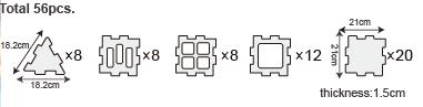 Weplay We-Blocks Minis – 56 Pcs